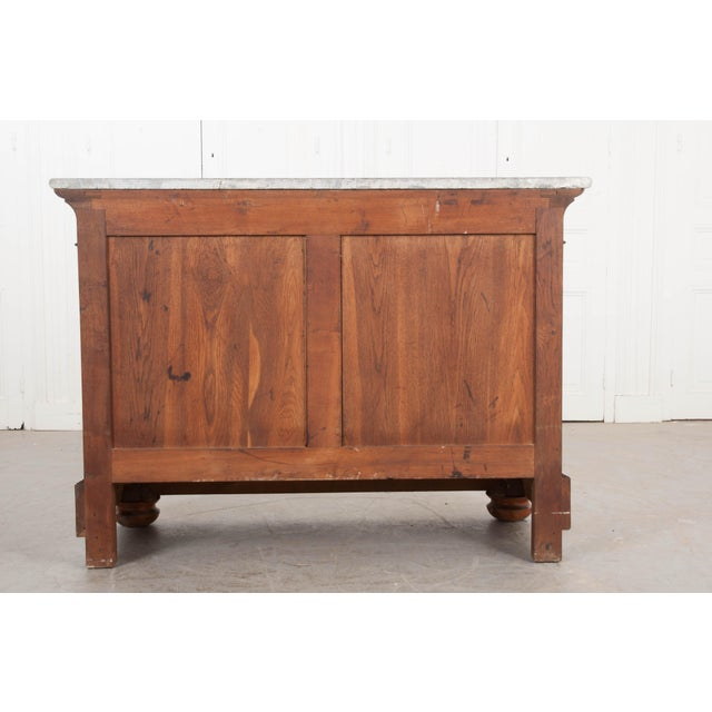French 19th Century Louis Philippe-Style Mahogany Commode For Sale - Image 4 of 12