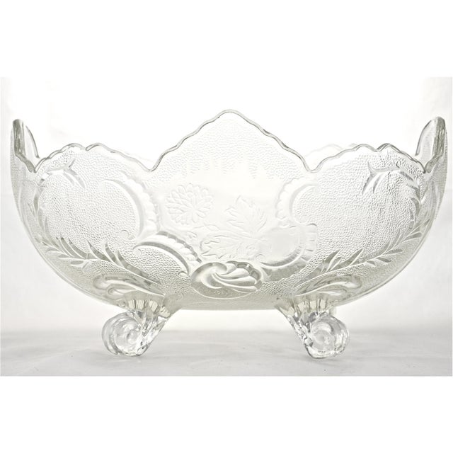 Antique Oval Footed Flower & Vine Bowl - Image 4 of 4