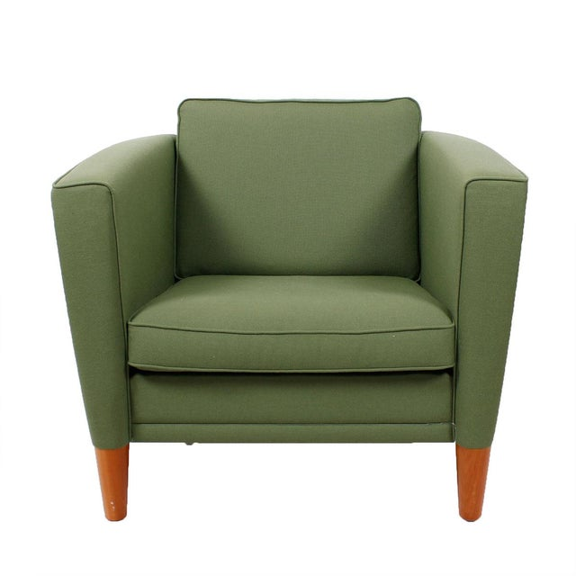 Green Danish Modern Lounge Chairs - A Pair - Image 2 of 5