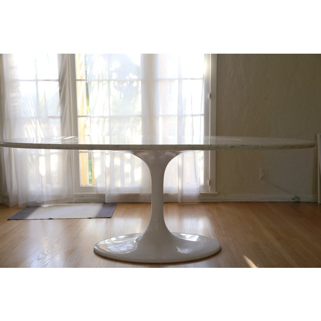 Saarinen Style Oval Marble Dining Table - Image 6 of 7