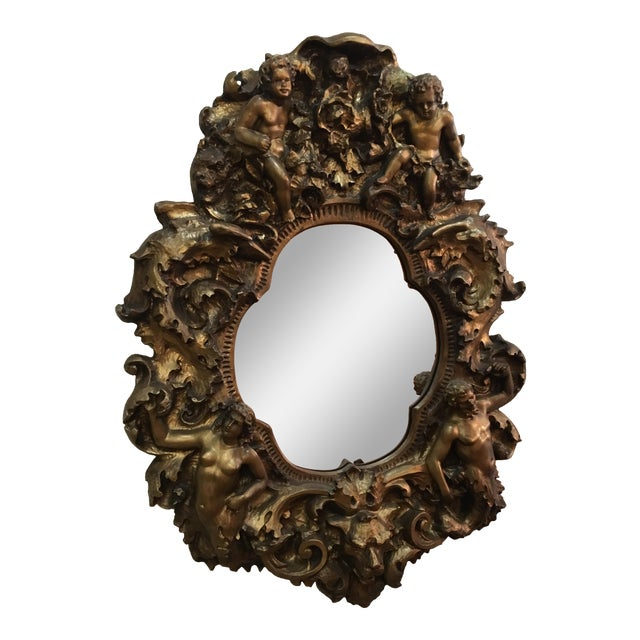 Baroque Cherub Mirror For Sale