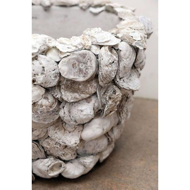 Pair of Oyster Shell Covered Cache Pots - Image 2 of 5