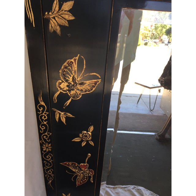 Chinoiserie Wal Mirror Decorated With Butterflies For Sale - Image 9 of 13