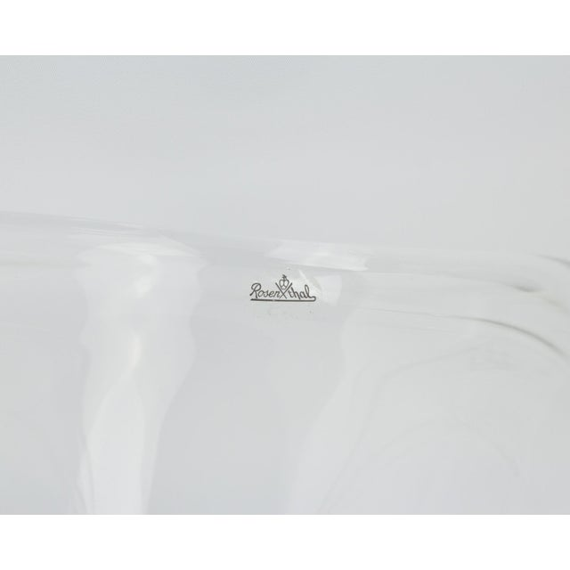 Rosenthal Crystal Rounded Wave Bowl For Sale - Image 9 of 12