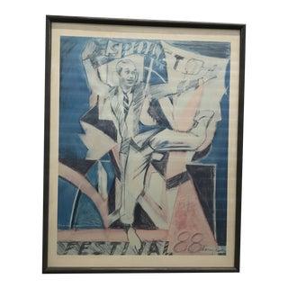 1988 Original Larry Rivers Charleston's Spoleto Festival Poster For Sale