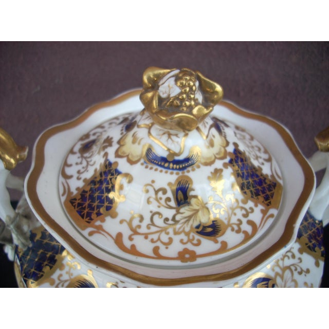 Early 19th Century Antique Gaudy Welsh Sugar & Creamer For Sale - Image 6 of 8