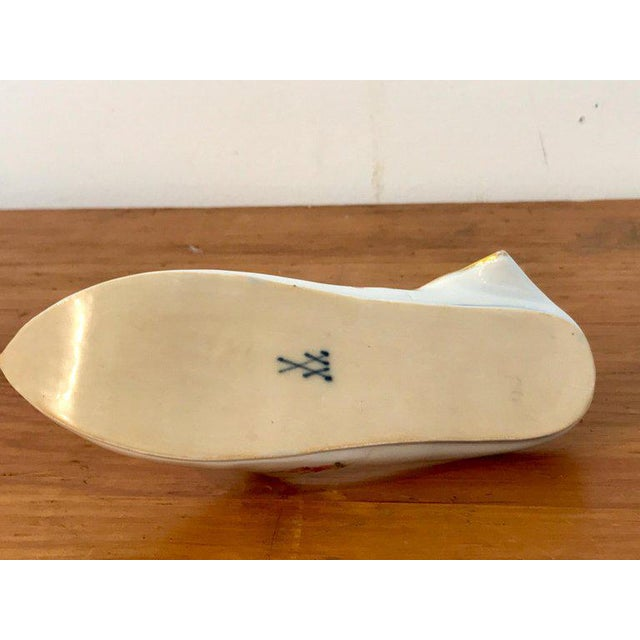 Victorian 19th Century Meissen Model of a Slipper For Sale - Image 3 of 12