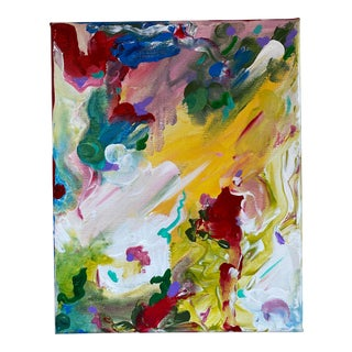 """Original Abstract """"Garden View"""" Painting by Lee Ten Hoeve For Sale"""