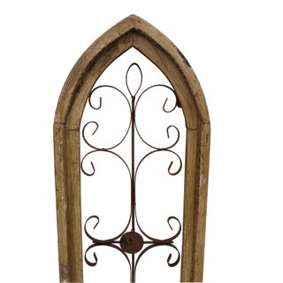 Rustic Country Farmhouse Cathedral Window Grilled Shabby Wall Garden Hangings Preview