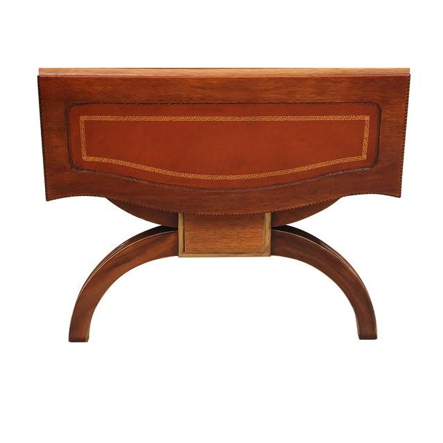 Wood Regency Style Drop-Leaf Coffee Table For Sale - Image 7 of 8