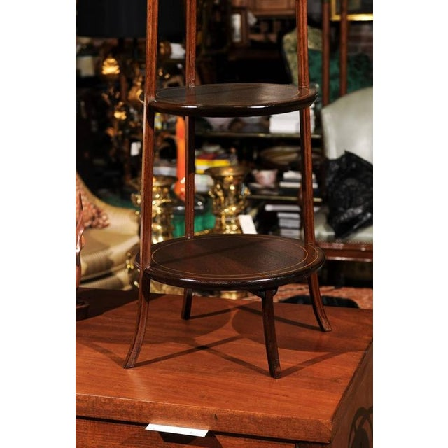 Hollywood Regency Regency Three-Tier Dessert Stand For Sale - Image 3 of 9