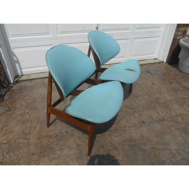 Mid-Century Modern 1960's Mid-Century Modern Kodawood Clamshell Bench Chairs For Sale - Image 3 of 9