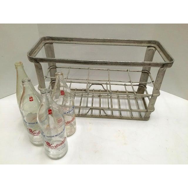 Vintage Belgian Zinc Bottle Carrier For Sale - Image 4 of 6