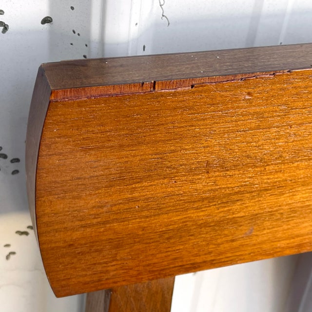 Mid-Century Walnut Twin Headboard and Footboard For Sale - Image 9 of 13