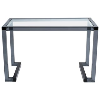 Smoked Lucite Console or Desk For Sale