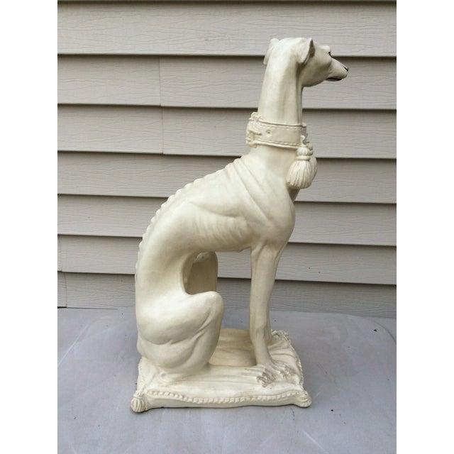 Mid-Century Modern 1970s Mid-Century Italian Pottery Greyhound For Sale - Image 3 of 13