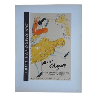 Vintage Mid Century Color Lithograph-Marc Chagall-Printed by Mourlot For Sale