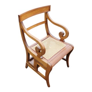 English Regency Style Mahogany Metamorphic Library Chair/Steps For Sale