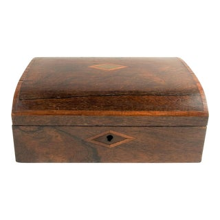 Antique Inlaid Writing Desk Box For Sale