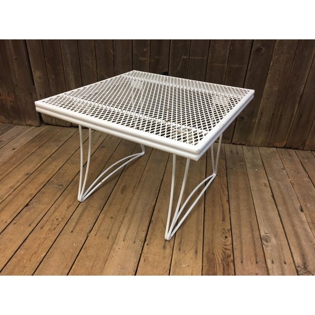 Mid Century Modern White Homecrest Side Table - Image 4 of 11