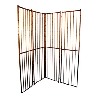 Large French Faux Bamboo Screen