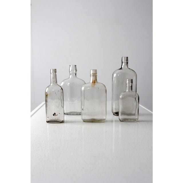 Early 20th Century Antique Apothecary Bottle Collection - Set of 5 For Sale - Image 5 of 6