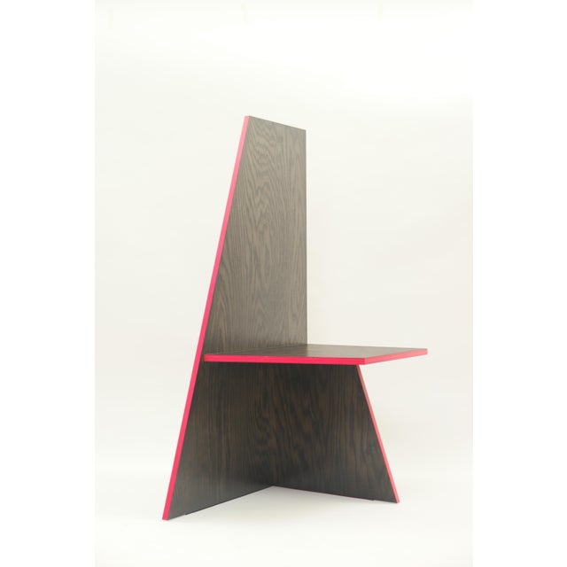 Red Contemporary Sculptural Chair For Sale - Image 8 of 8