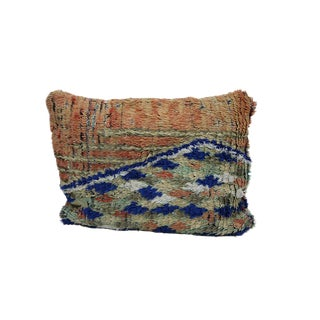"""Vintage Boho Chic Moroccan Pillow - 22""""x16"""" For Sale"""