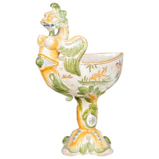 18th Century French Moustiers Faience Cup For Sale