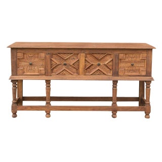 Contemporary English Tudor Style Console Table For Sale