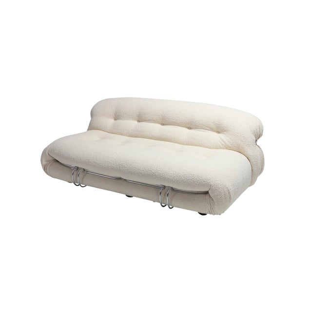 Soriana Two-Seat Sofa by Afra E Tobia Scarpa for Cassina For Sale