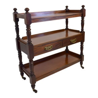 19th-Century Mahogany Trolley W/Drawers For Sale