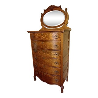 20th Century Traditional Restored Tiger Oak Highboy For Sale