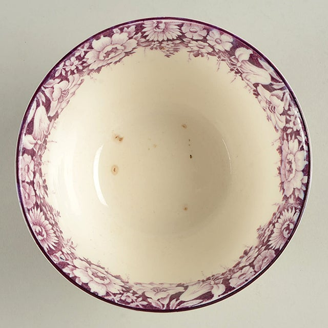 Wood & Sons Castle Purple Cranberry Bowl features a rich purple transfer castle scene with a floral border. There is some...