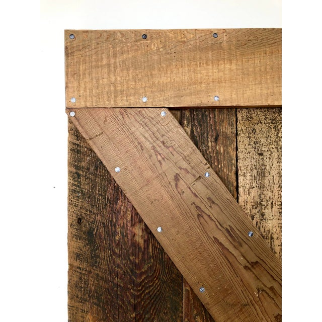 Modern Rustic Sliding Farmhouse Barn Door For Sale - Image 10 of 13