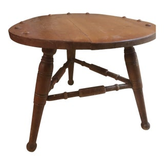 1932 Antique George Bent Co. Wooden Footstool For Sale