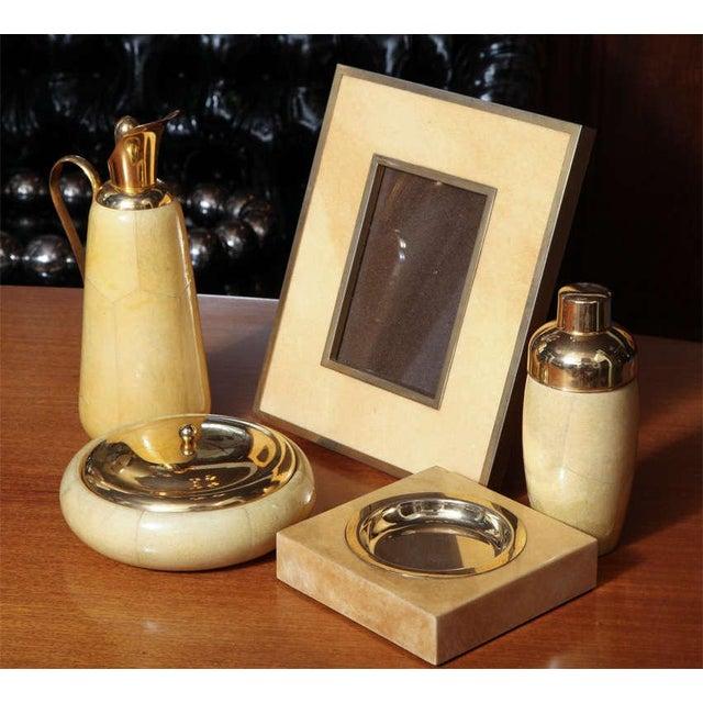 Aldo Tura Set of Goatskin Decorative Pieces (5 Items) - Image 6 of 10