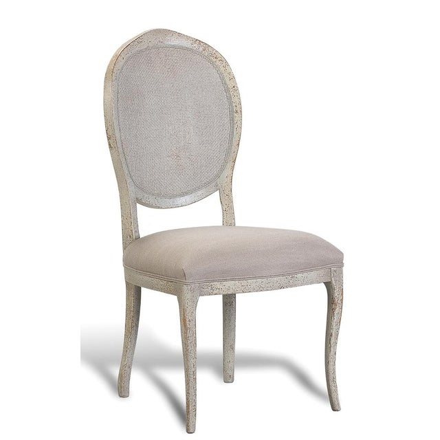 Abrella oval back beige white dining chairs set of 4 for White oval back dining chair