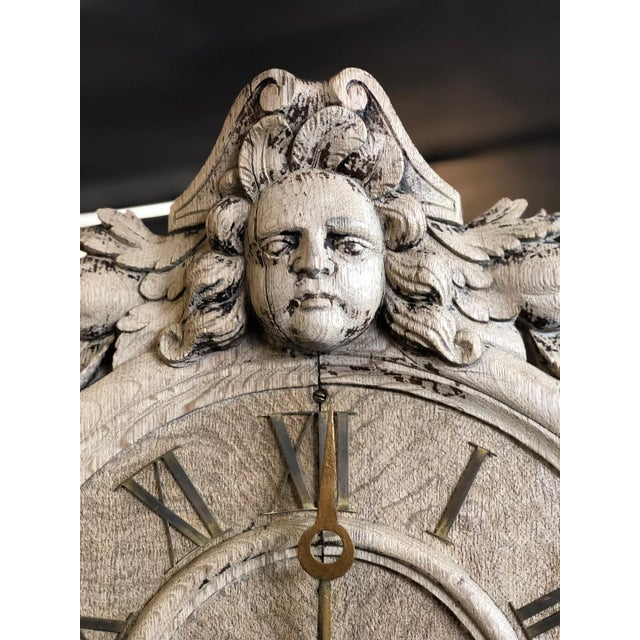 Renaissance French Renaissance Architectural Carved Clock For Sale - Image 3 of 10