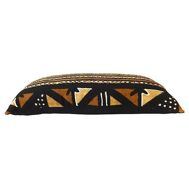 African Mud Cloth Large Long Pillow - Image 3 of 6