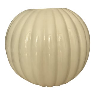 Haeger Large Ribbed Vase