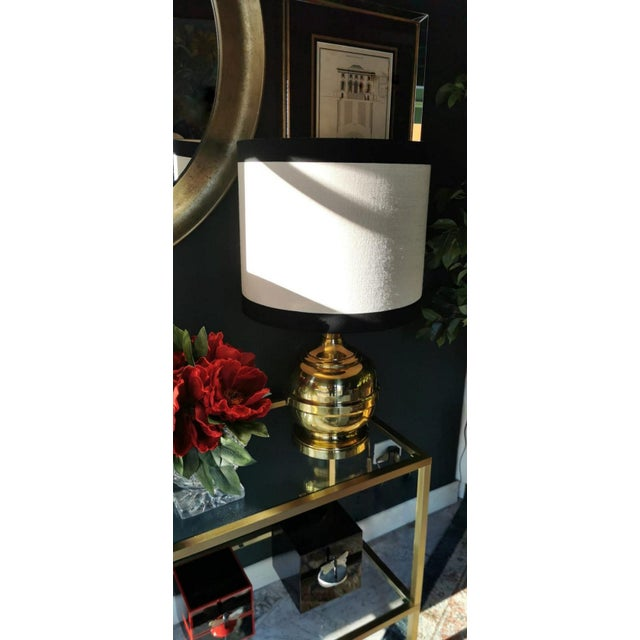 Vintage Italian Table Lamps in Polished Brass - a Pair For Sale - Image 9 of 13