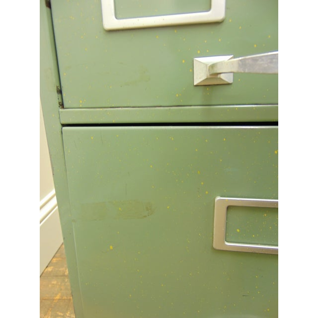 Cole industrial light green metal file cabinet chairish green cole industrial light green metal file cabinet for sale image 8 of 8 malvernweather Images
