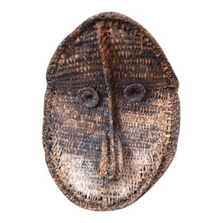 1920s Vintage Woven Oceanic Mask For Sale