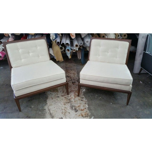 Brown 1950s Mid Century Modern Slipper Chairs - a Pair For Sale - Image 8 of 8