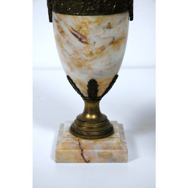 Pink Marble Urns - A Pair - Image 7 of 7