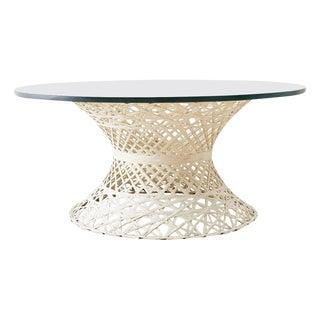Midcentury Russell Woodard Spun Fiberglass Drink Table For Sale