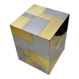 Paul Evans Two Tone Cube Table For Sale