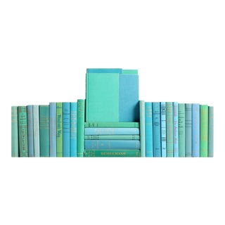 "Midcentury ""Ocean"" Book Wall, S/50"