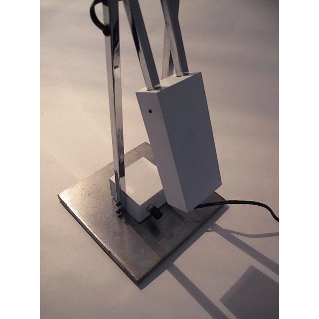 White Robert Sonneman Articulated Table Lamp For Sale - Image 8 of 9